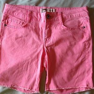 Lei pink shorts size 7